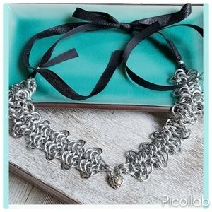 """""""Key to My Heart"""" Chainmaille Necklace"""
